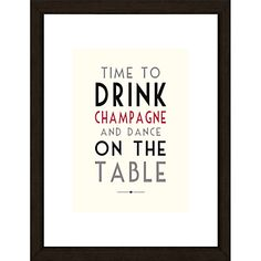 Buy East of India Time To Drink Sign Framed Print, 43 x 33cm online at JohnLewis.com - John Lewis