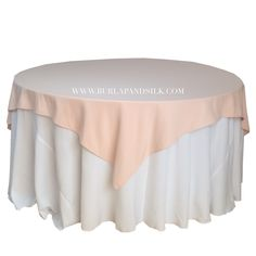 Blush Table Overlays 72 X 72 Inches, Square Blush Tablecloths, Blush  Wedding Table Linens