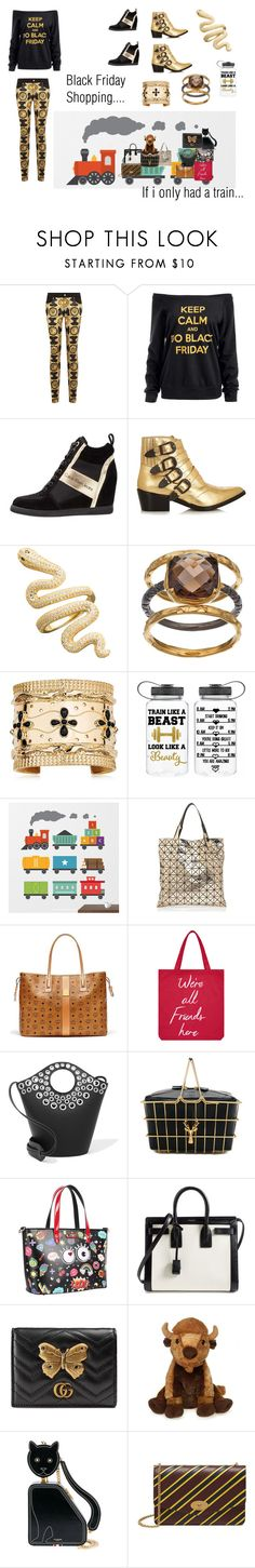 """""""Basics Training"""" by snowflakes214247 ❤ liked on Polyvore featuring Versace, Toga, Olive & Ivy, Aurélie Bidermann, Issey Miyake, MCM, Accessorize, Elizabeth and James, Savas and Nicole Lee"""