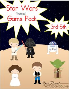 Free Star Wars Themed Game Pack (3rd-5th) - http://www.yearroundhomeschooling.com/free-star-wars-themed-game-pack-3rd-5th/