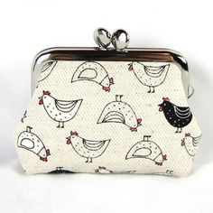 Small Coin Purse  Kawaii Chicken by fieldofroses on Etsy, $16.00