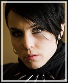 Noomi Rapace as Lisbeth Santander in the Swedish version of Girl with the Dragon Tattoo.