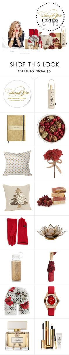 """Holiday Hostess Gifts"" by maggiecakes ❤ liked on Polyvore featuring interior, interiors, interior design, home, home decor, interior decorating, Kate Spade, Hostess, Pier 1 Imports and Dot & Bo"