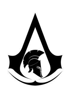 — Assassin's Creed Odyssey fan made logos. Tatuajes Assassins Creed, Assassins Creed Tattoo, Assassins Creed Series, Assassin Logo, Cool Chest Tattoos, Small Tattoos, Spartan Warrior, Spartan Shield, Spartan Logo