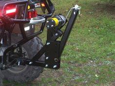 Atv Dump Trailer, Quad Trailer, Log Trailer, Atv Trailers, Trailer Diy, Atv Racks, Atv Plow, Home Electrical Wiring, Tractor Loader
