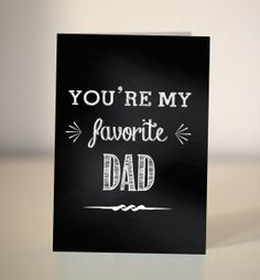 Father's Day Card / you're my favourite Dad by Dickens Ink
