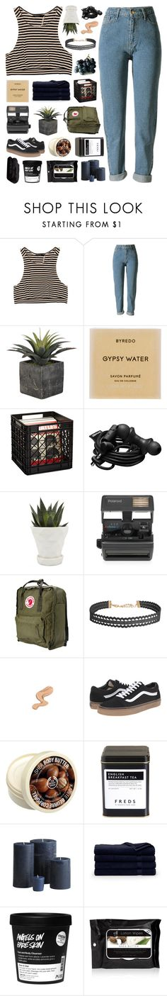 """""""They float above the city lights"""" by justonegirlwithdreams ❤ liked on Polyvore featuring WithChic, Byredo, Urbanears, Chive, Impossible, Fjällräven, Humble Chic, Vans, The Body Shop and FREDS at Barneys New York"""
