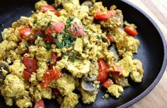 Tofu Scramble (with mushrooms, red bell pepper, onion)