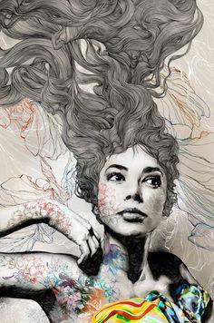 Beautiful illustration by Gabriel Moreno via Sweet Station
