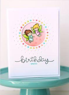 Lawn Fawn Fairy Friends Birthday Card by Nancy
