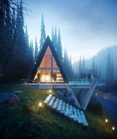 A Frame House, Mountain Living, Garden Office, Backyard Projects, Modern House Design, Seaside, Architecture Design, Cottage, Exterior