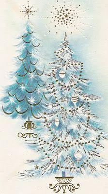 Wayside Treasures: Sweet Images from Christmas Past ~ Aqua Christmas, Noel Christmas, Christmas Greetings, Christmas Crafts, Retro Christmas Decorations, Vintage Christmas Images, Christmas Pictures, Vintage Holiday, Christmas Graphics