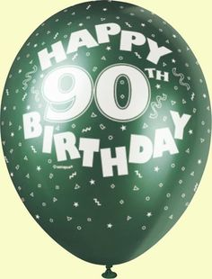 90th birthday party ideas | 90th Birthday Pearlised Balloons Pack Of 5 90th Party Supplies