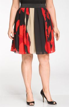 Plus Size Vince Camuto Place Passion Skirt Looks Plus Size, Look Plus, Curvy Plus Size, Plus Size Women, Pretty Outfits, Beautiful Outfits, Cute Outfits, Curvy Girl Fashion, Plus Size Fashion