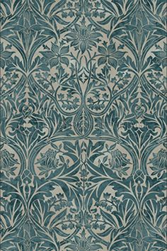 Bluebell Fabric - Claret/Gold - William Morris & Co Archive Prints Fabrics Collection
