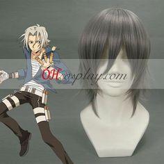 HitmanReborn Gokudera Hayato Grey Cosplay Wig