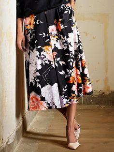 M/&Co Teen Girl Khaki Denim Utility Skirt with Belt