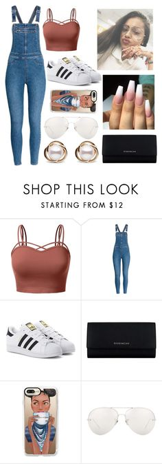 """Untitled #120"" by bvbydest on Polyvore featuring J.TOMSON, adidas Originals, Givenchy, Casetify, Linda Farrow and Trilogy"