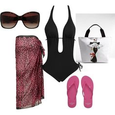 Little Black Swimsuit, created by phantomvogue on Polyvore