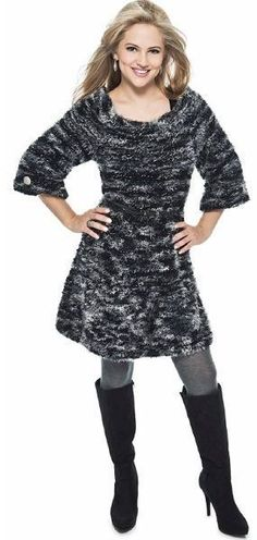 Vestido preto e cinza com Fio Remix