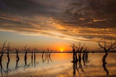 Sunset Over Lake Epecuen
