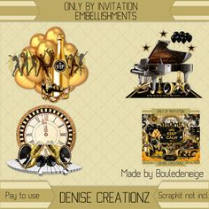 Denise Creationz: Only By Invitation Embellishments 01