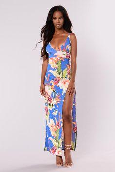Tropic Winds Maxi Dress - Royal