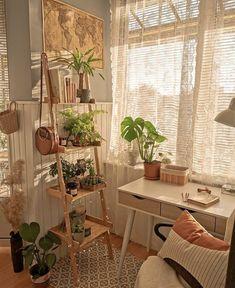 Room Design Bedroom, Room Ideas Bedroom, Bedroom Decor, Decor Room, Bedroom Inspo, Nature Bedroom, Teen Bedroom, Wall Decor, Wall Art