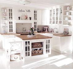 My dream kitchen Small but nice - Best Interior Design Ideas Home Decor Kitchen, Interior Design Kitchen, Country Kitchen, Home Kitchens, Open Plan Kitchen, New Kitchen, Kitchen Island, Kitchen White, Küchen Design