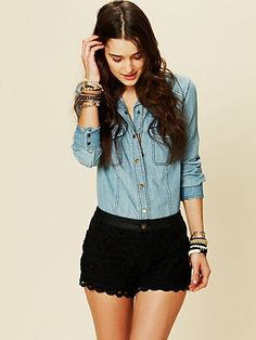 Obsessed. Lace shorts!