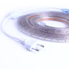 SMD 5050 AC220V LED Strip Flexible Light 60leds/m Waterproof Led Tape LED Light With Power Plug 1M/2M/3M/5M/6M/8M/9M/10M/15M/20M  Price: 9.00 & FREE Shipping #computers #shopping #electronics #home #garden #LED #mobiles #rc #security #toys #bargain #coolstuff  #headphones #bluetooth #gifts #xmas #happybirthday #fun Led Tape, Mixing Bowls, Led Strip, Food Storage, Home Crafts, Flexibility, Plugs, Mobiles, Accessories