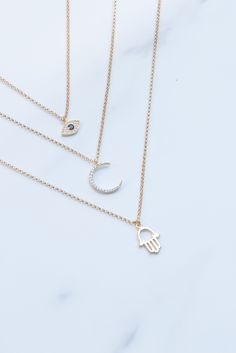 Dainty and Gold. Small | Necklace | Stacks