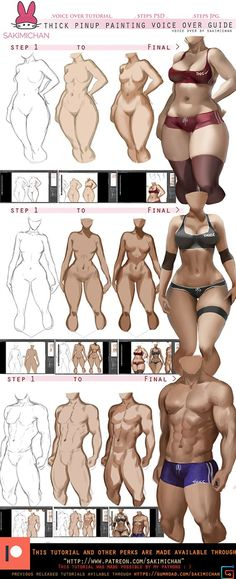 Guide :How to paint thick Pinup voice over   Sakimi Chan on Patreon