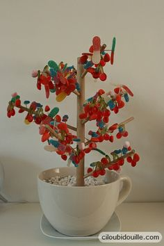 how to make a candy tree Fabriquer un arbre à bonbons