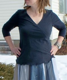 indietutes: maternity top to wrap tee