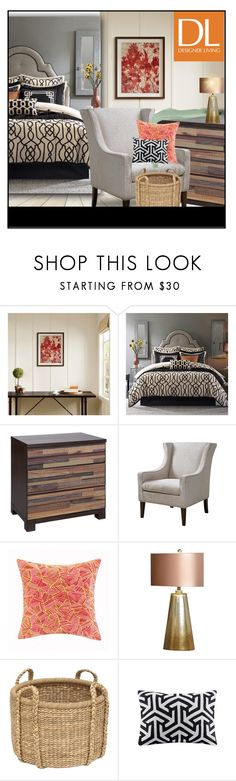 """""""Chic Contemporary furniture"""" by budding-designer ❤ liked on Polyvore featuring interior, interiors, interior design, home, home decor, interior decorating, Madison Park, Hampton Hill, Ink & Ivy and Josie Natori"""