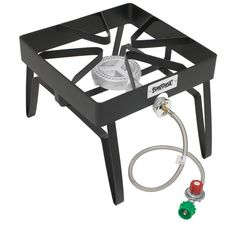 Bayou Classic Propane Cylinder Manual Ignition Black Steel Outdoor Stove at Lowe's. The Bayou Classic® outdoor patio stove is a versatile choice for many outdoor cooking functions. This nifty Bayou cooker is designed for versatility Propane Stove, Gas Stove, Outdoor Kocher, Single Burner Stove, Braided Hose, Outdoor Stove, Outdoor Heaters, Cooking Stove, Root Beer