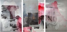 Hannah Perry I'd be lying if I said I was ok, 2016 Triptych, Lacquer and silkscreen print on aluminium board x x cm Silk Screen Printing, Triptych, Abstract, Artwork, Painting, York, Pictures, Screen Printing, Art Work