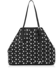 Shop for Jimmy Choo SASHA/M Black Leather Tote Bag with Stars on ShopStyle.com