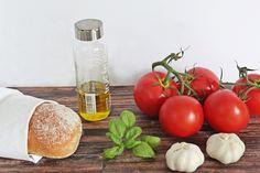 Italien zuhause: Leckere Bruschetta #Snack #Food #vegan