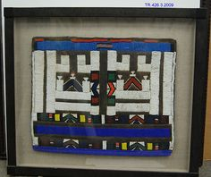 Woman's Apron (Liphotu) | Ndebele peoples | The Met Maker Culture, Late 20th Century, Repeating Patterns, Colored Glass, Geometric Shapes, Art Museum, Glass Beads, Apron, African