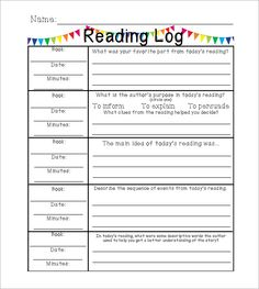 Editable Weekly Fiction Reading Logs With Response Options Middle