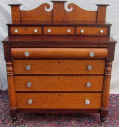 Extraordinary Solid Birds Eye Maple Sheraton Dresser The