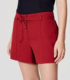 Primary Image of Tie Waist Shorts
