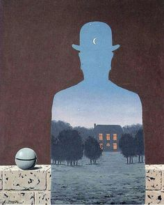 Magritte  the happy donor Artist: Rene Magritte Completion Date: 1966 Place of Creation: Belgium Style: Surrealism Period: Later Period Genre: symbolic painting