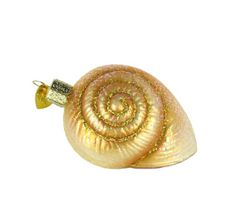 Old World Christmas Spiral Shell Ornament. #Christmas #NewYear #Ornament #Decor #giftidea #Gift #gosstudio .★ We recommend Gift Shop: http://www.zazzle.com/vintagestylestudio ★