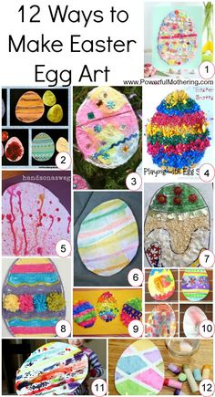 Get inspired by these 12 Ways to Make Easter Egg Art!