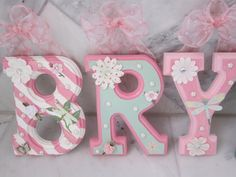 Hanging Letters On Wall, Diy Letters, Letter Wall, Wooden Letters, Letters Decoration, Letter Size, Painted Letters, Painted Initials, Hand Painted