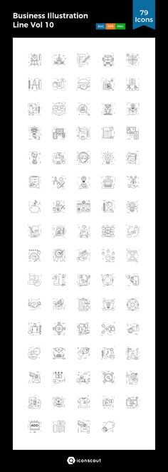 Business Illustration Line Vol 10  Icon Pack - 79 Line Icons