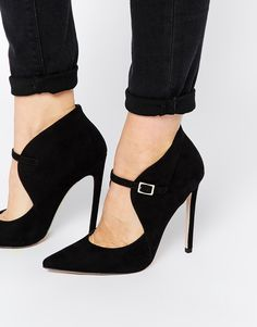 ASOS PEACE GARDEN High Heels, black, stiletto, ankle strap